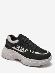 Letter Print Chunky Running Sneakers -