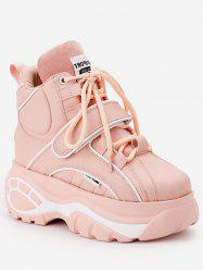Hidden Wedge Platform High Top Sneakers -