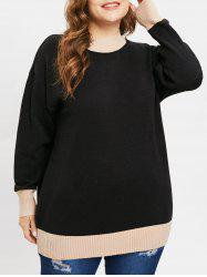 Plus Size Longline Sweater with Mock Neck -