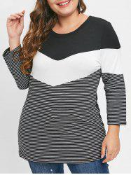 Plus Size Striped T-shirt -