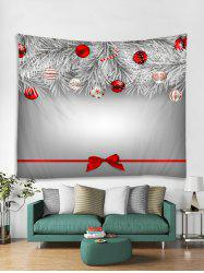 Christmas Ball Bowknot Printed Tapestry Art Decoration -
