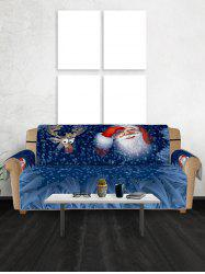 Christmas Elk Santa Pattern Couch Cover -