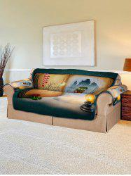 Christmas Book House Pattern Couch Cover -