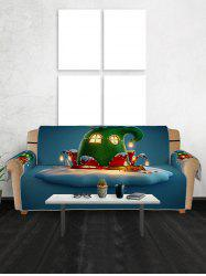 Christmas House Pattern Couch Cover -