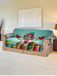 Christmas Snowman Gifts Pattern Couch Cover -