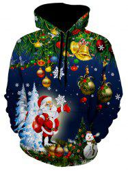 Christmas Tree Santa Jingle Bells Christmas Hoodie -