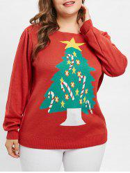 Plus Size Christmas Tree Pullover Jumper -