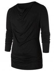 Long Sleeve Pile Heap Collar T-shirt -