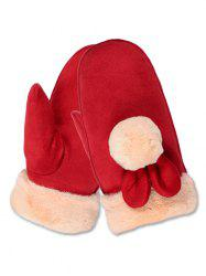 Winter Fuzzy Ball Mitten Gloves -