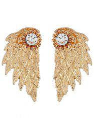 Wings Shape Rhinestone Earrings -