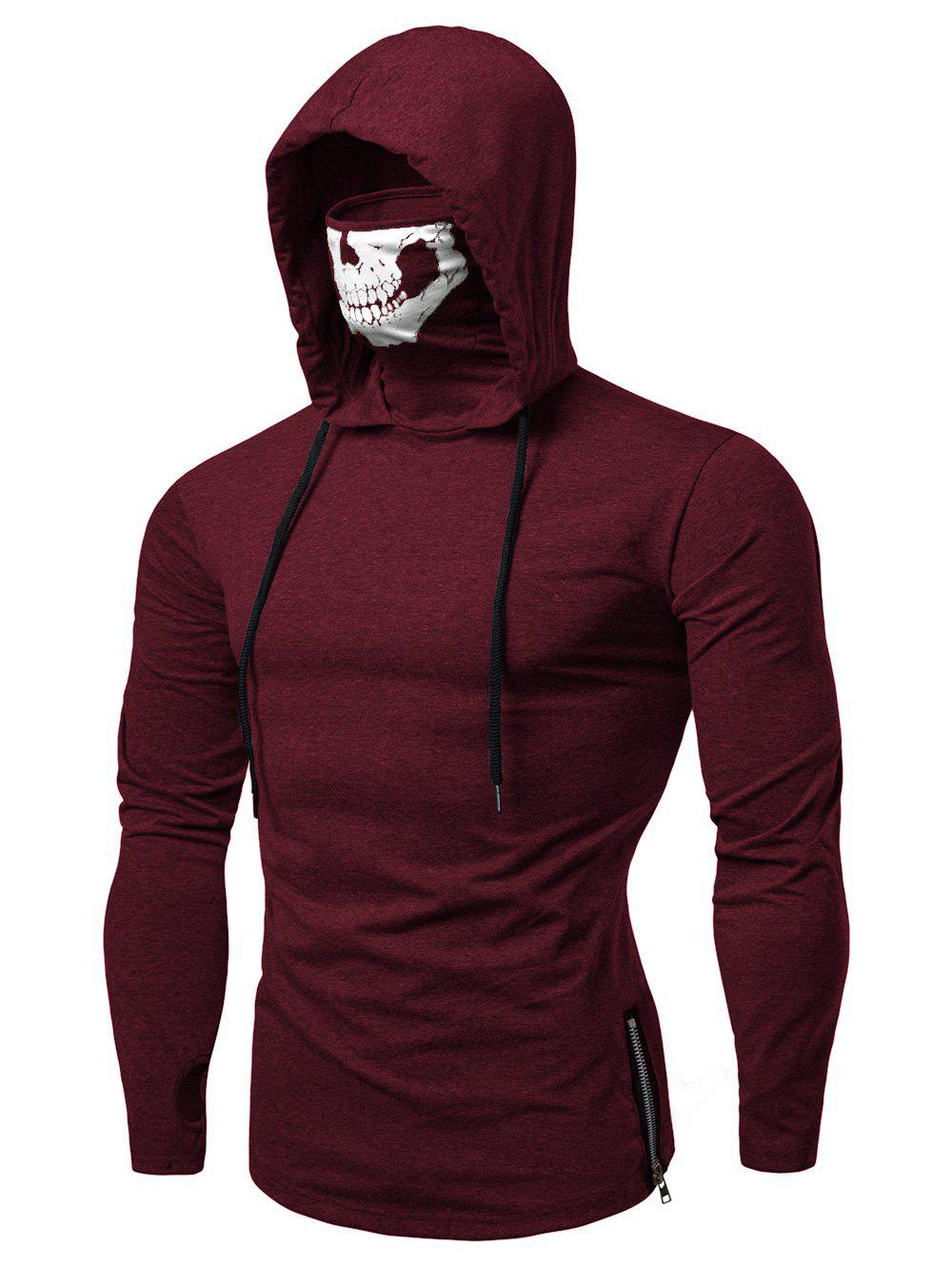 New Fashion Drawstring Scare Mask Hoodie for Man