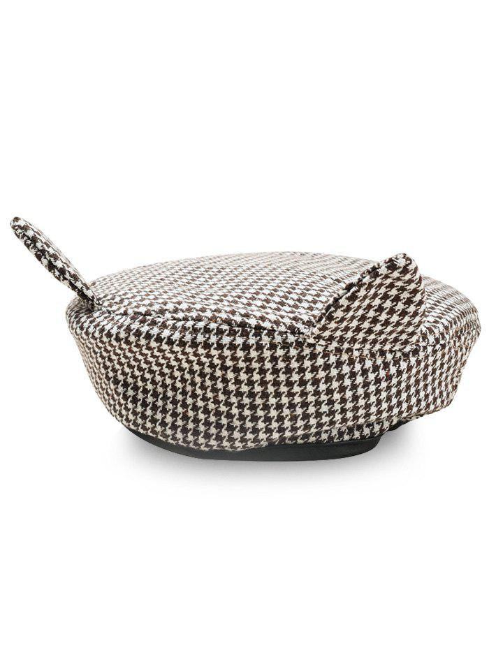Chic Cute Ear Houndstooth Beret