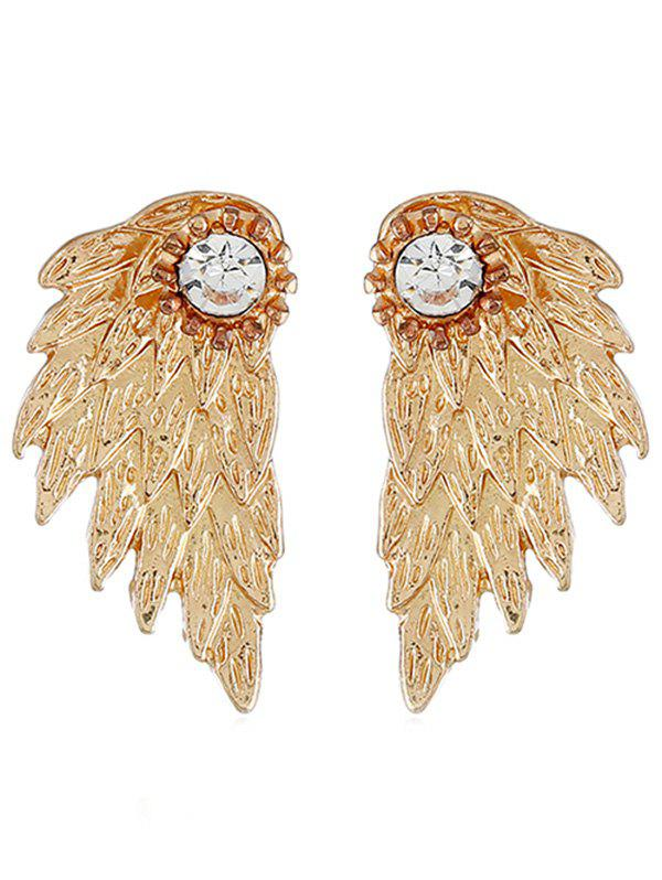 Online Wings Shape Rhinestone Earrings