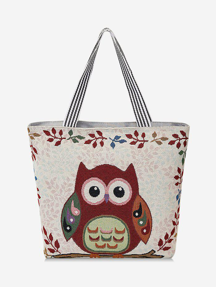 Unique Owl Pattern Canvas Tote Bag
