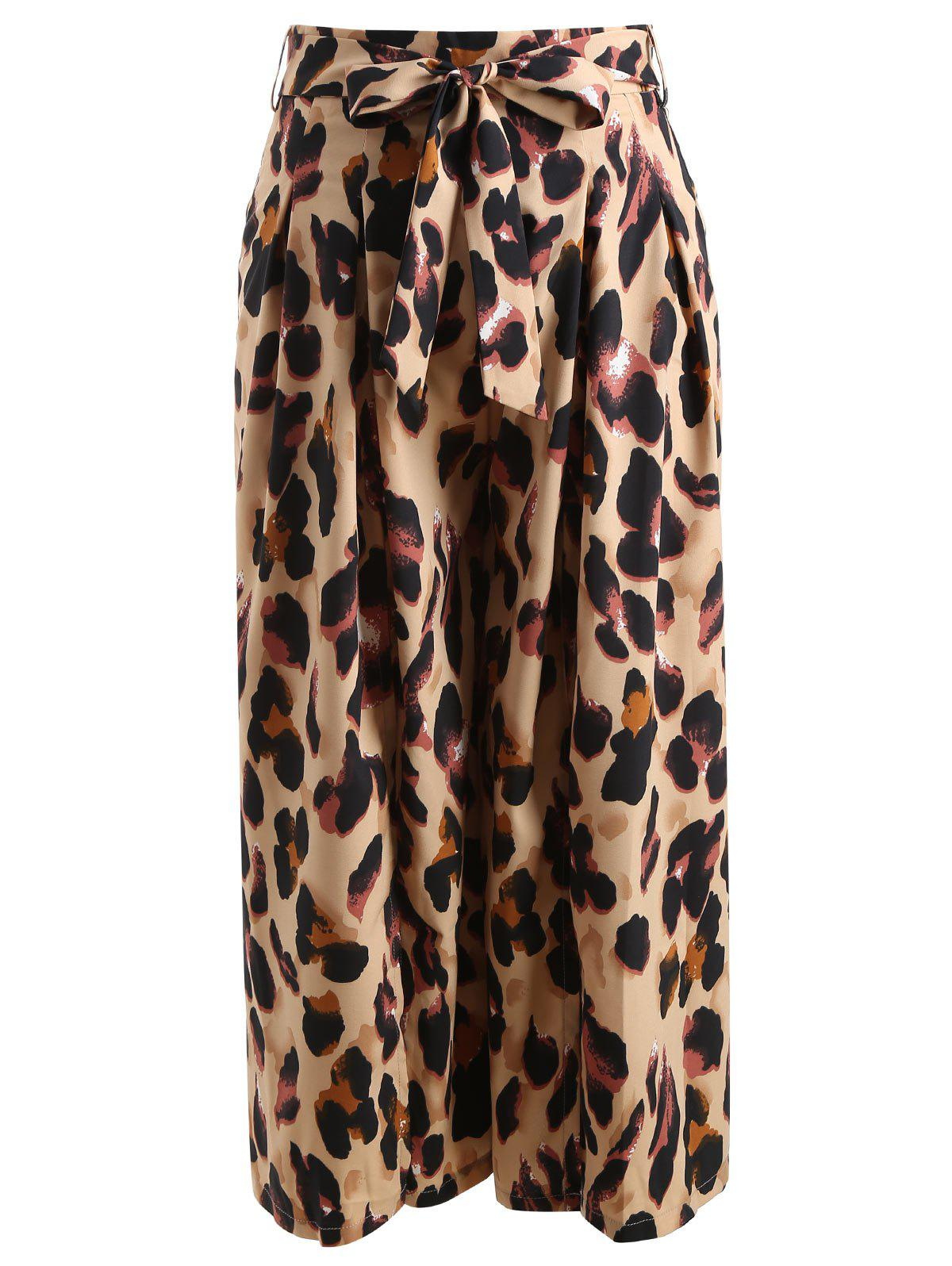 Outfit High Waisted Leopard Print Midi Skirt