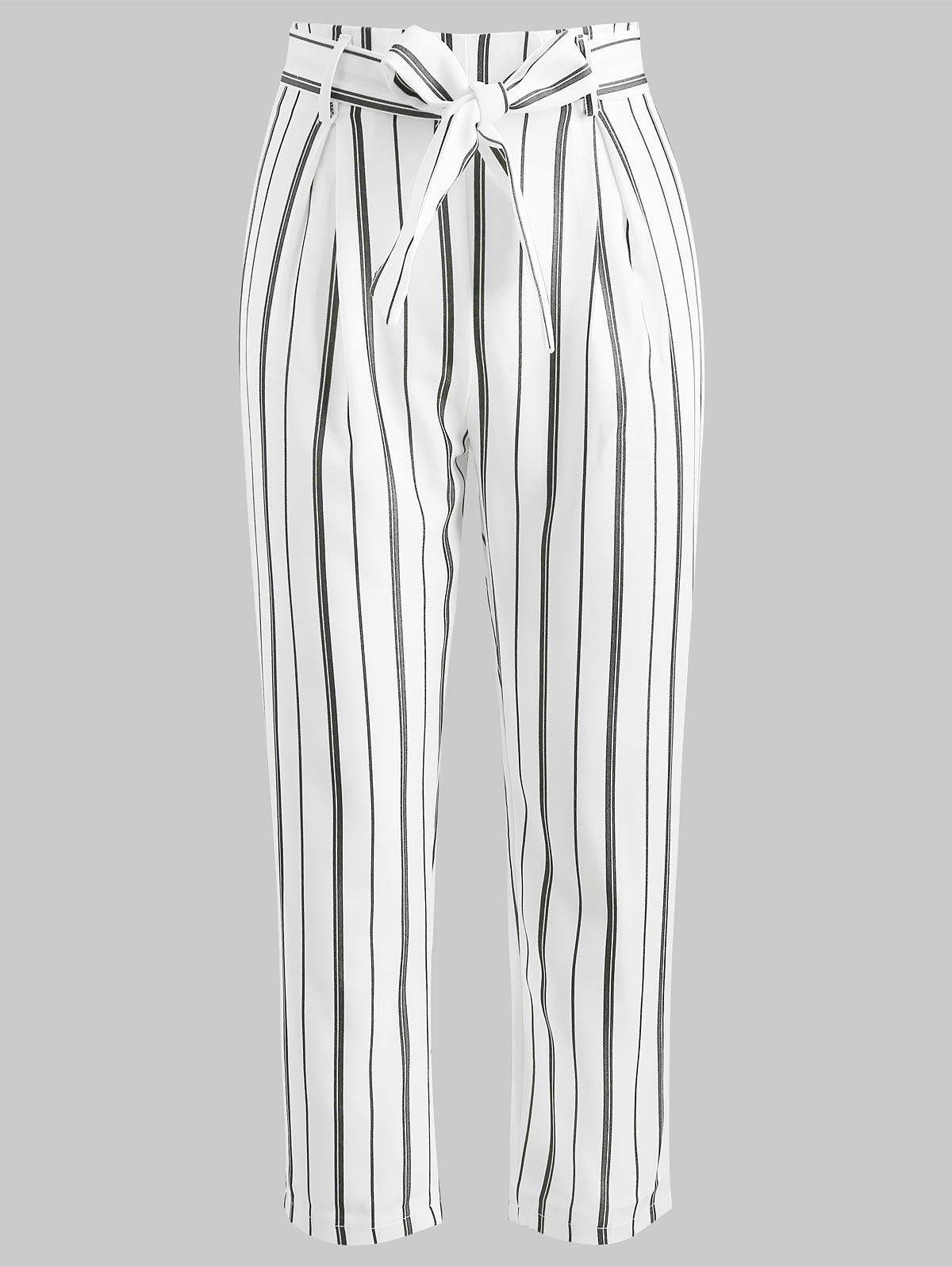 Outfits High Waisted Striped Cropped Pants