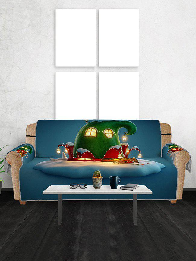 Hot Christmas House Pattern Couch Cover
