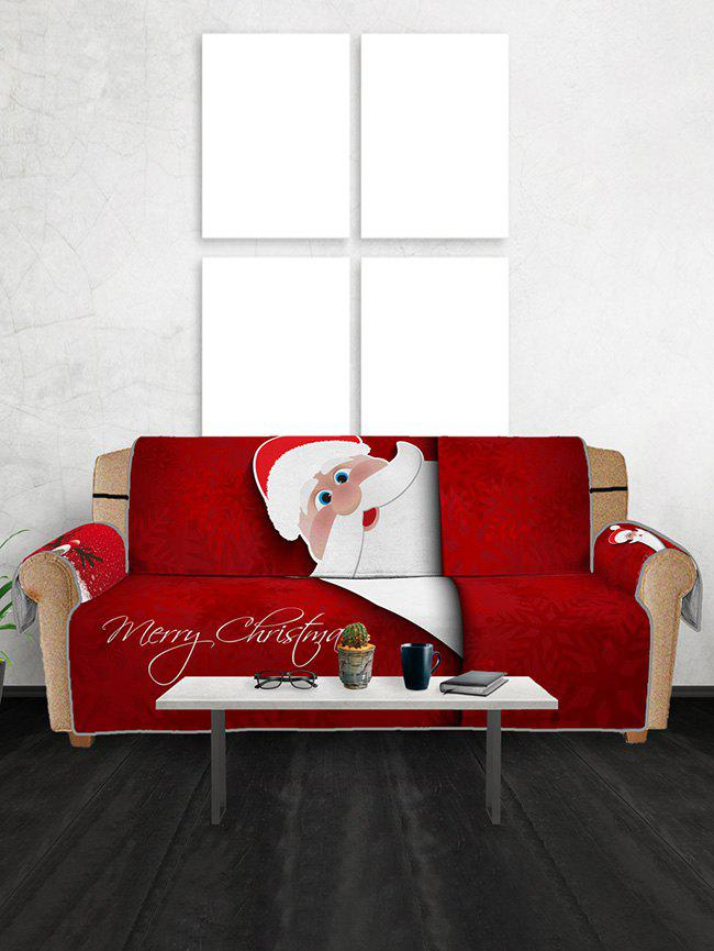 Shop Christmas Elk Santa Claus Pattern Couch Cover