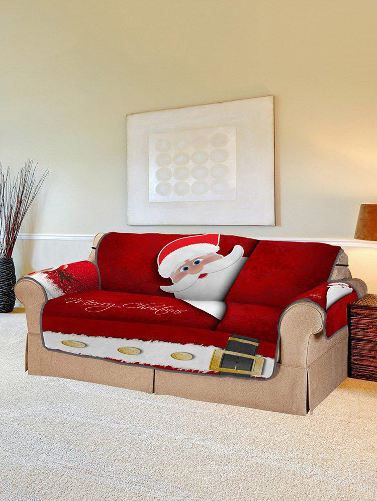 76% OFF] Christmas Elk Santa Claus Pattern Couch Cover | Rosegal