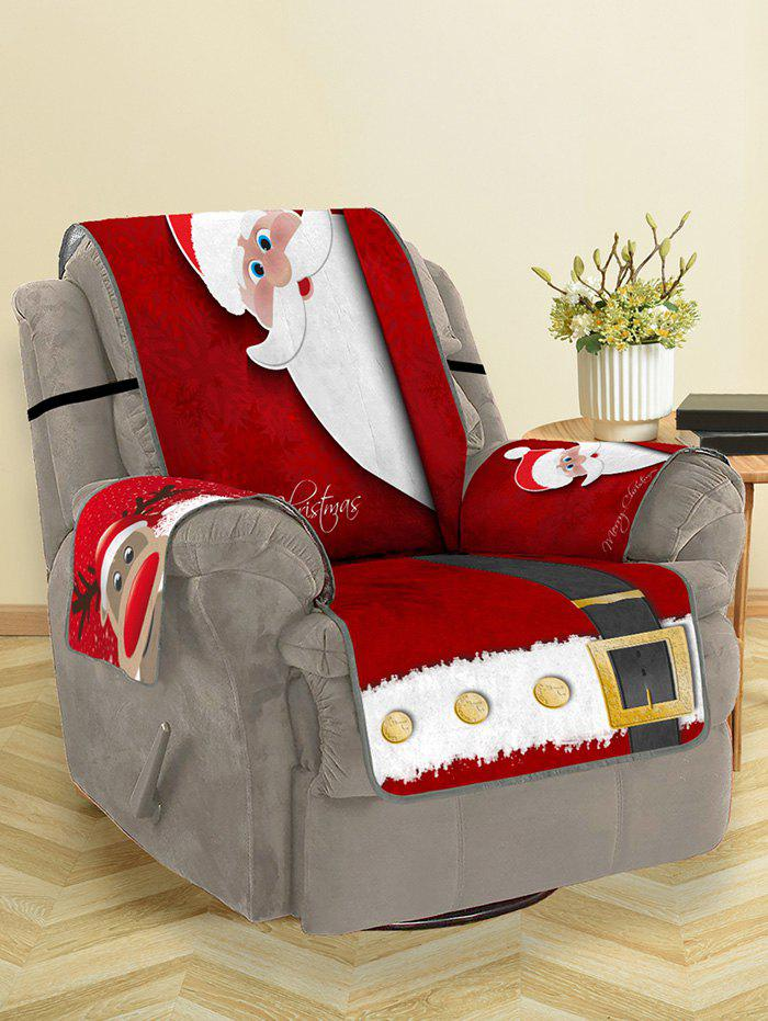 Fashion Christmas Elk Santa Claus Pattern Couch Cover