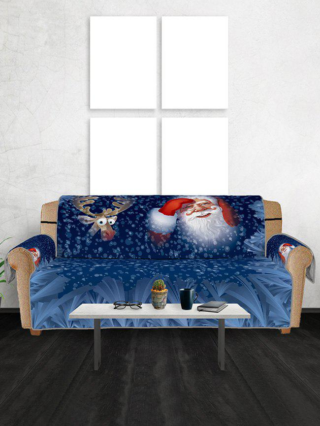 Store Christmas Elk Santa Pattern Couch Cover