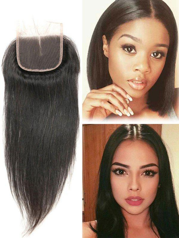 Unique 1Pc Straight Human Hair Malaysian Hair Weave with Closure