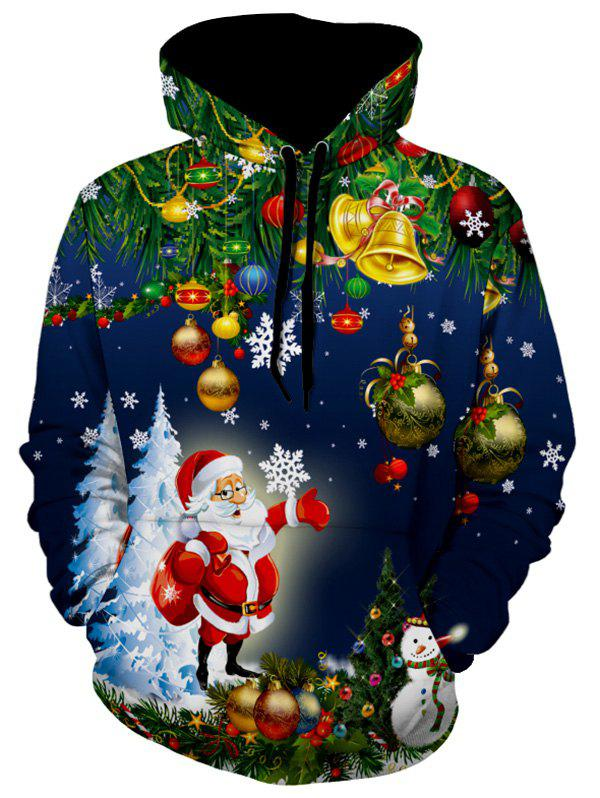 Fancy Christmas Tree Santa Jingle Bells Christmas Hoodie