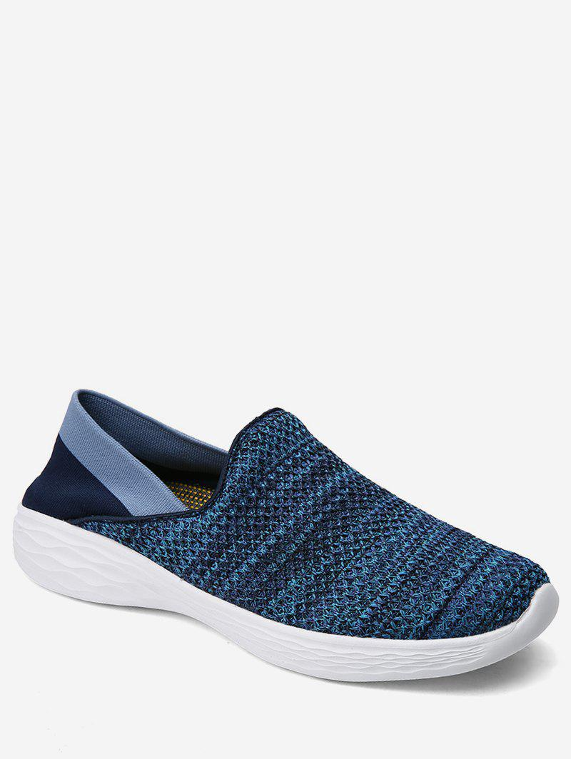 Discount Patch Knitted Loafer Walking Shoes
