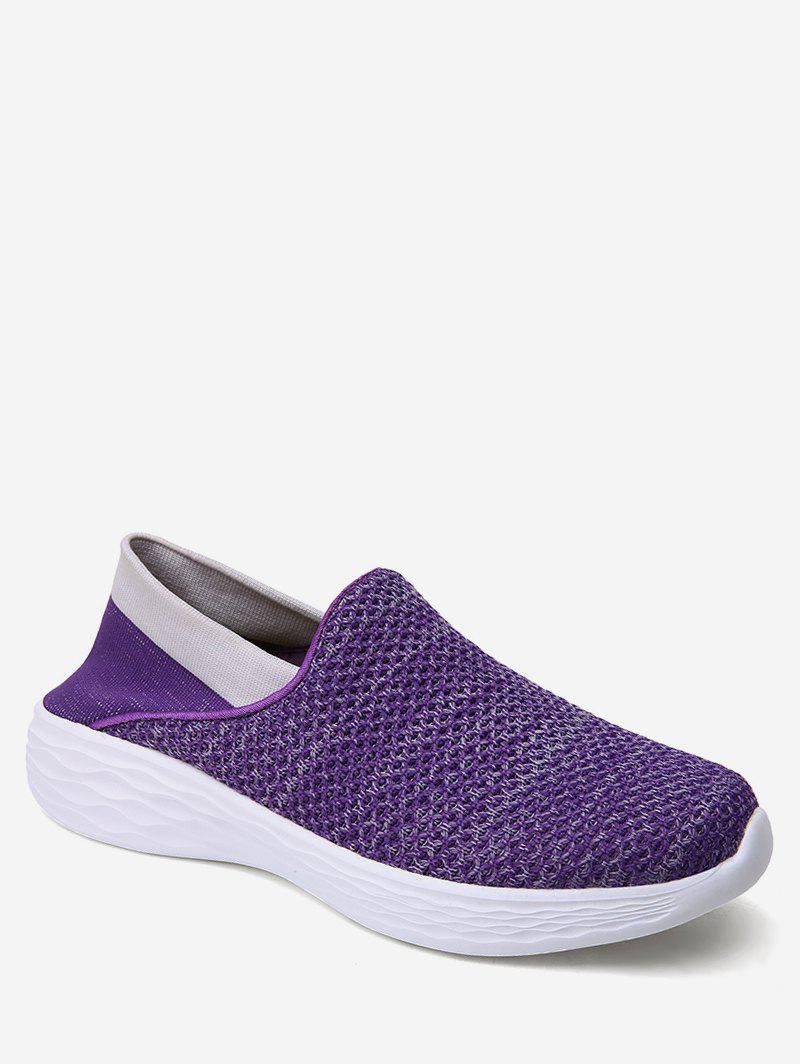 Outfits Patch Knitted Loafer Walking Shoes