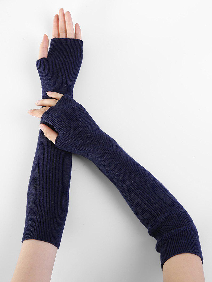 Cheap Winter Solid Color Fingerless Arm Warmers