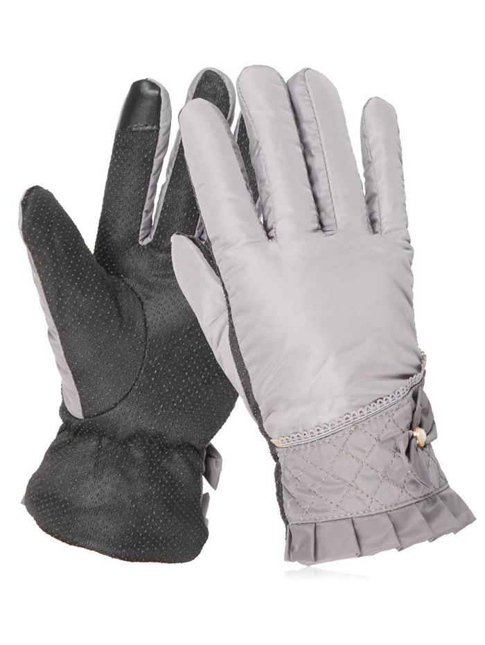 Outfit Bowknot Full Finger Non-slip Ski Gloves