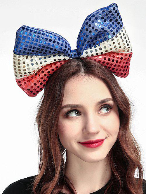 Fancy Sequins Big Bow Shape Hair Band