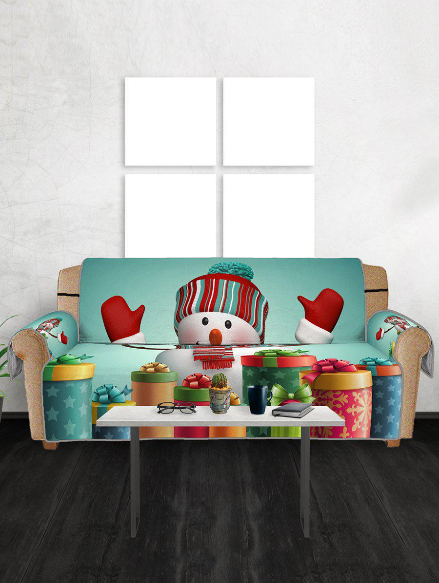 Cheap Christmas Snowman Gifts Pattern Couch Cover