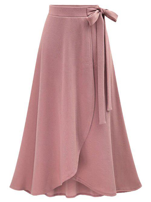 Rosegal / High Waist Plus Size Front Slit Skirt