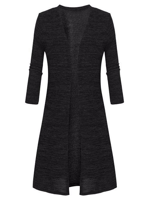 Outfit Plus Size Collarless Open Front Coat