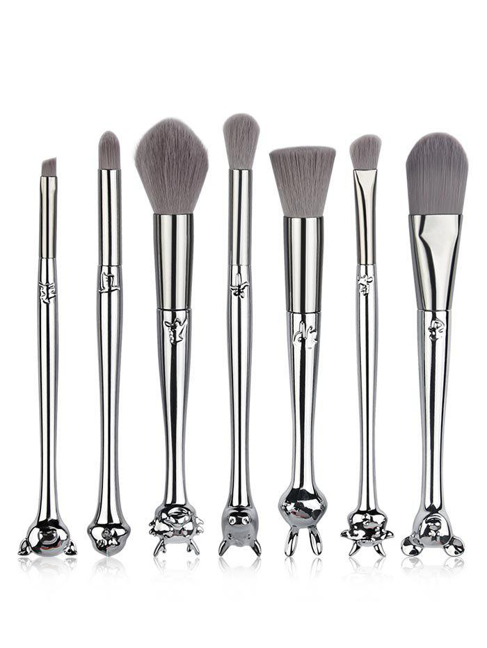 Sale 7 Pcs Chinese Zodiac Handles Soft Hair Travel Cosmetic Brush Suit