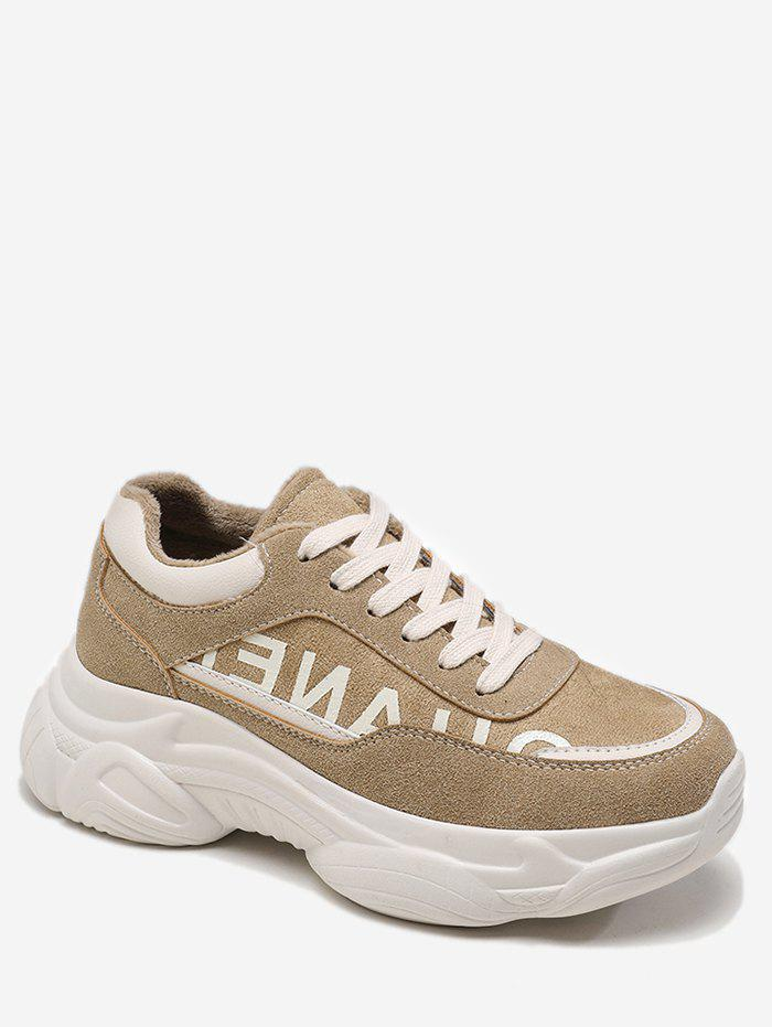 Cheap Letter Print Chunky Running Sneakers