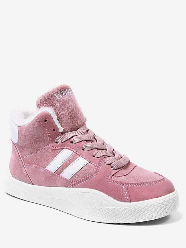 Store Striped High Top Skate Sneakers