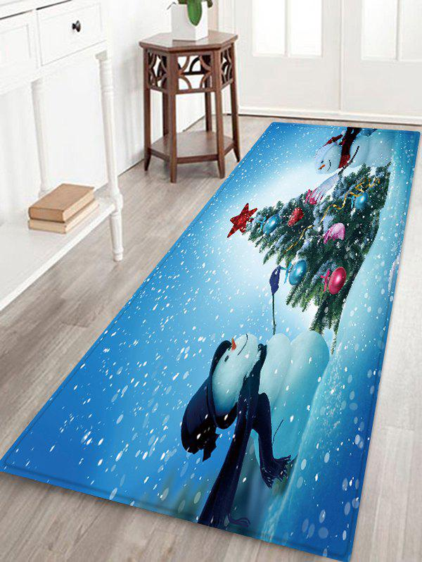 Discount Christmas Snowmen Tree Pattern Water Absorption Floor Rug