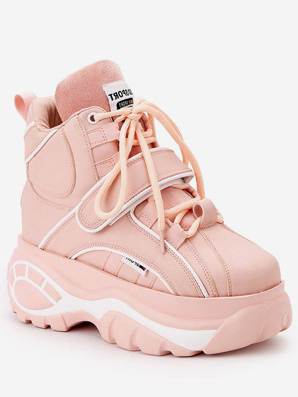 Fashion Hidden Wedge Platform High Top Sneakers