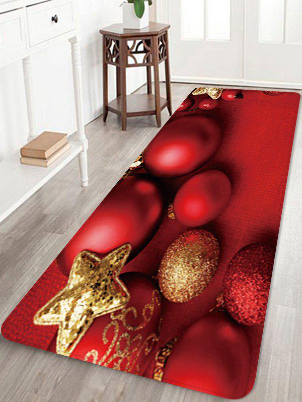 Fashion Christmas Balls Star Pattern Water Absorption Area Rug