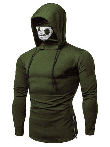 Fashion Drawstring Scare Mask Hoodie for Man