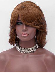 Inclined Bang Short Asymmetric Wavy Synthetic Wig -