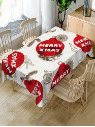 Christmas Balls Candy Print Table Cloth -