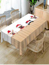 Christmas Dogs Print Table Cloth -