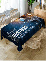 Galaxy and Christmas Letters Print Table Cloth -