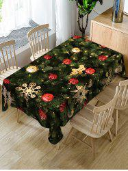 Christmas Tree and Baubles Printed Table Cloth -