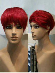 Short Layer Side Bang Straight Cosplay Synthetic Wig -