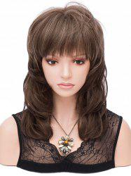 Medium Full Bang Layer Colormix Straight Synthetic Wig -