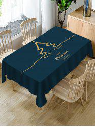 Christmas Letters Printed Table Cloth -
